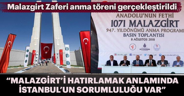 """İBB Başkanı Uysal: """"Malazgirt'i hatırlama anlamında  İstanbul'un sorumluluğu var''"""