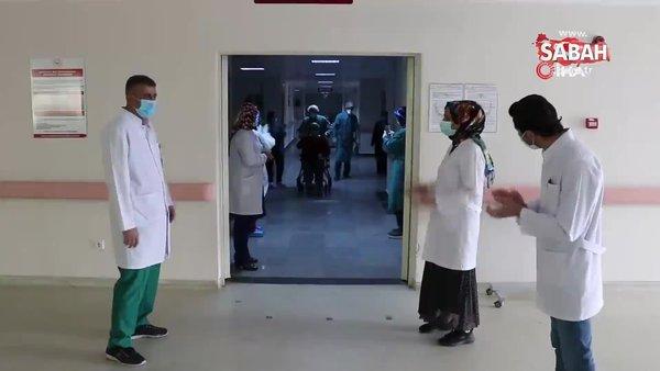 2 kez kalbi duran 62 yaşındaki hasta korona virüsü yenerek taburcu oldu | Video