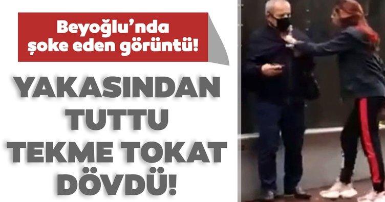 Son dakika! Yer: İstanbul! Genç kadın, babası yaşındaki adamı tekme tokat dövdü...