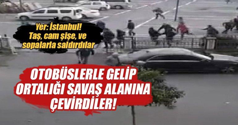 İstanbul'da maç sonrası ortalık karıştı!