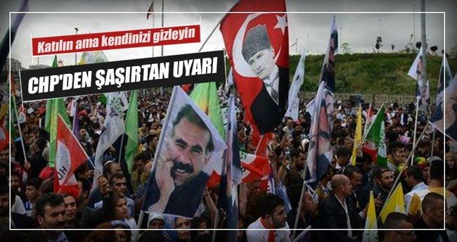 CHP-HDP mitingi için bayrak uyarısı