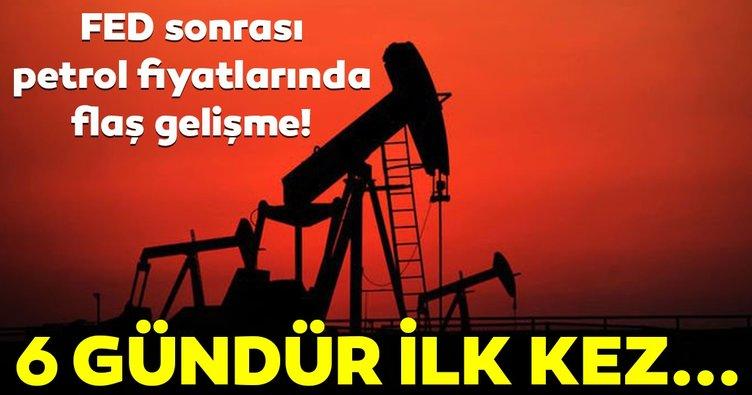 Petrol fiyatları altı gündür ilk kez düştü