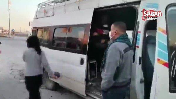 Bir minibüsten 33 kişi çıktı | Video