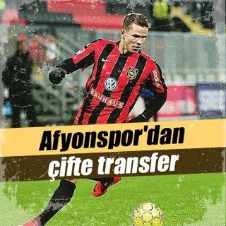 Afyonspor'dan çifte transfer