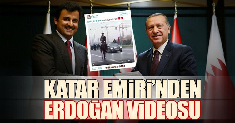 Katar Emiri'nden Erdoğan'a videolu teşekkür