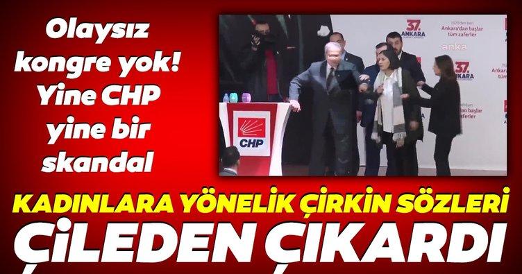 CHP kongresinde skandal! Delege Tevfik Koçak'tan kadınlara yönelik çirkin sözler