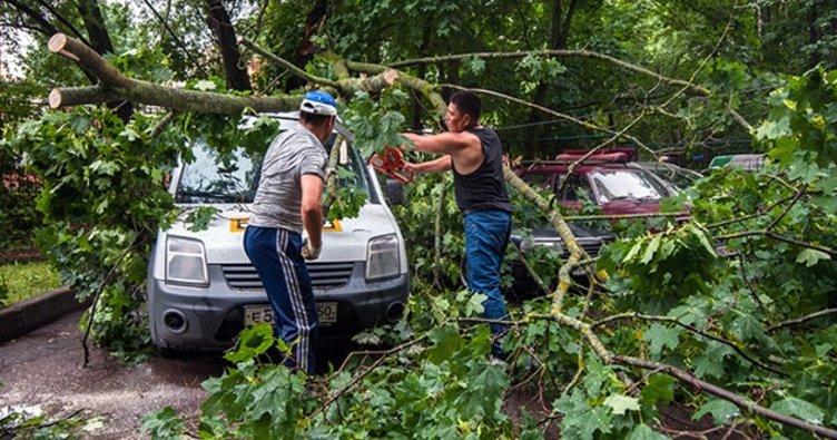 Moskova'da fırtına: 2 ölü, 30 yaralı!