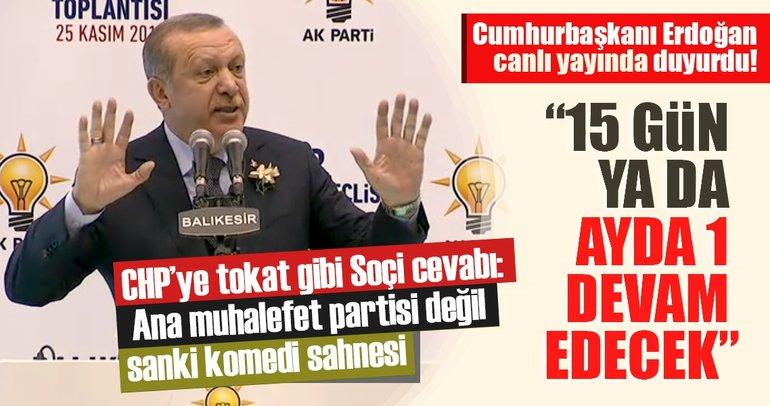 Cumhurbaşkanı Erdoğan'dan son dakika Soçi Zirvesi açıklaması