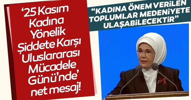 Emine Erdoğan'dan önemli açıklamalar