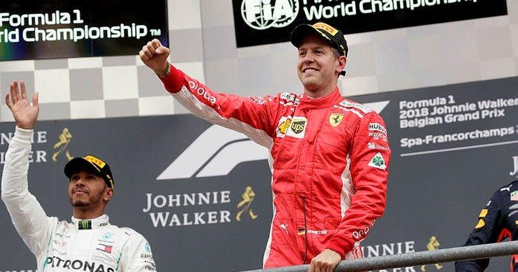 Formula 1'de Belçika GP'sinde zafer Sebastian Vettel'in
