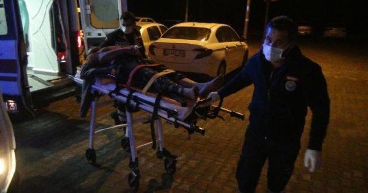 Besni'de otomobil iş yerinin duvarına çarptı: 3 yaralı