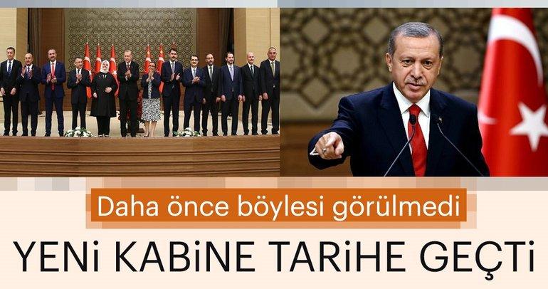 Son dakika haberi: Başkan Recep Tayyip Erdoğan'ın açıkladığı yeni kabine listesi Türkiye tarihine geçti!