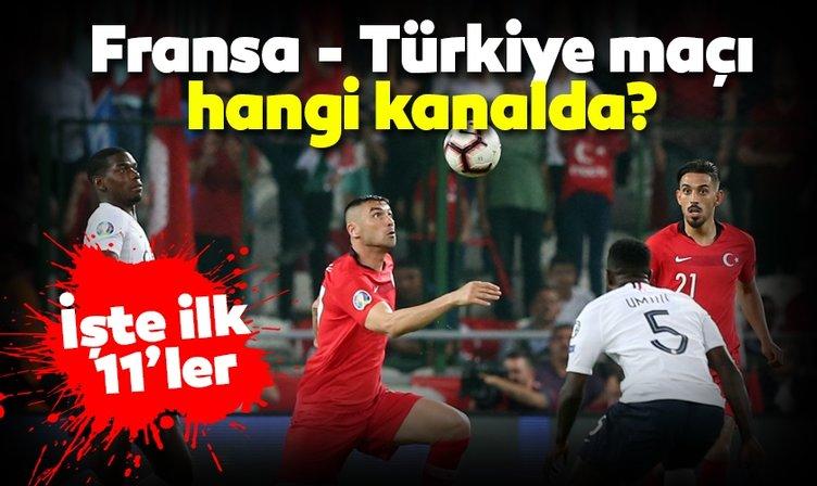 Fransa Türkiye maçı hangi kanalda yayınlanacak? Milli maç ne zaman, saat kaçta? Canlı izle!