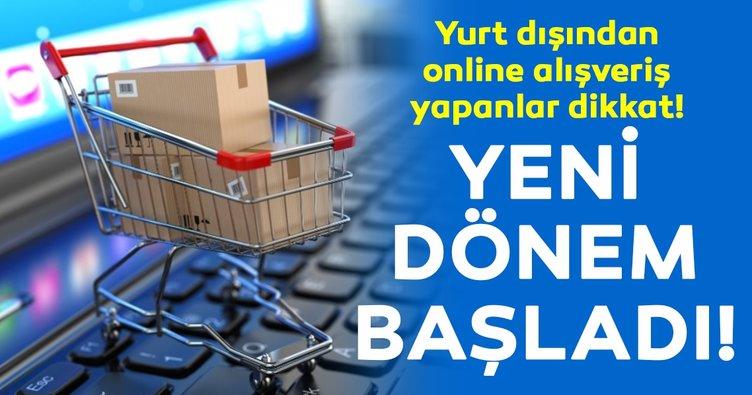 Online yurt dışı alışverişlerinde vergi dönemi başladı!
