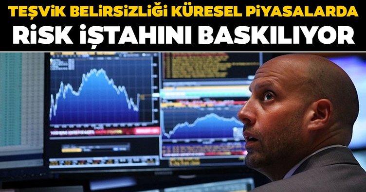 Teşvik belirsizliği küresel piyasalarda risk iştahını baskılıyor