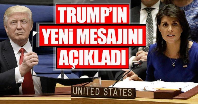 ABD temsilcisi, BMGK'da Trump'ın son Suriye mesajını açıkladı