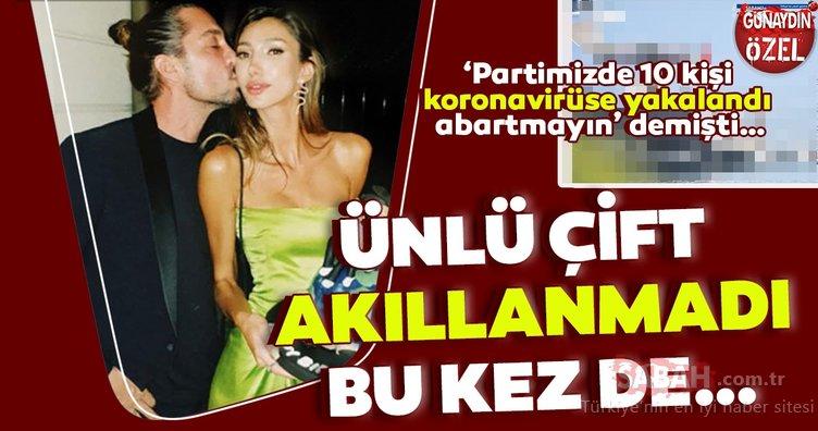 Şevval Şahin ile sevgilisi Yiğit Marcus Aral bu kez de... 'Partimizde 10 kişi koronavirüse yakalandı abartmayın' demişti…