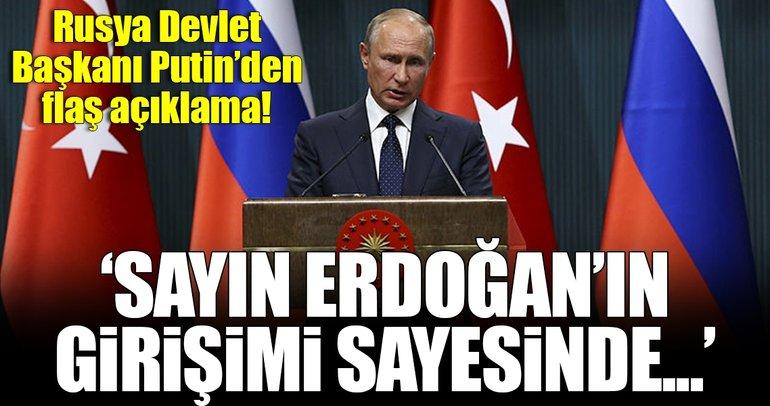 Rusya Devlet Başkanı Putin'den flaş açıklamalar!
