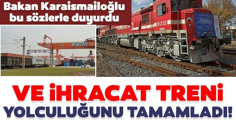 Son dakika haberi | Bakan Karaismailoğlu duyurdu! İhracat treni yolculuğunu tamamladı