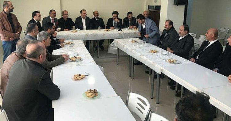 Başkan Hakan'dan ziyaretler