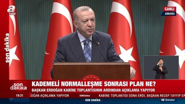 SON DAKİKA   Başkan Recep Tayyip Erdoğan, Kabine Toplantısı kararlarını açıkladı!   Video