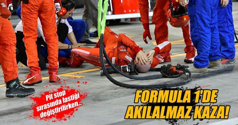 Raikkonen mekanikerin bacağını kırdı!