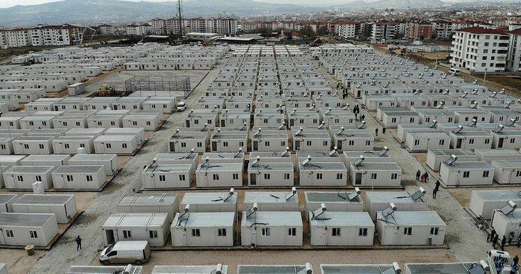 Elazığ'da konteyner kente yerleşim başladı