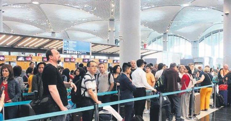 İstanbul Havalimanı'ndan saatte 53.5 sefer yapıldı
