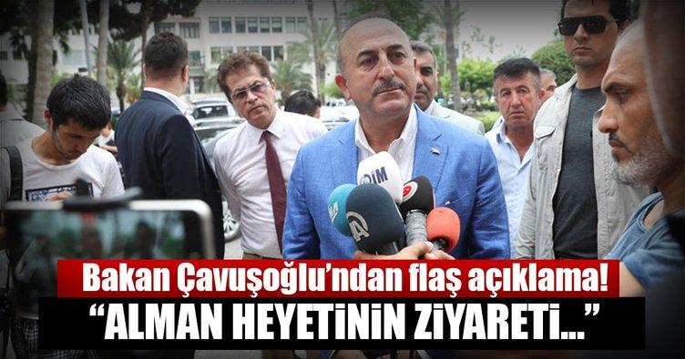 Bakan Çavuşoğlu'ndan Almanya açıklaması