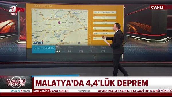 Son dakika! Malatya'da 4,4 büyüklüğünde deprem   Video