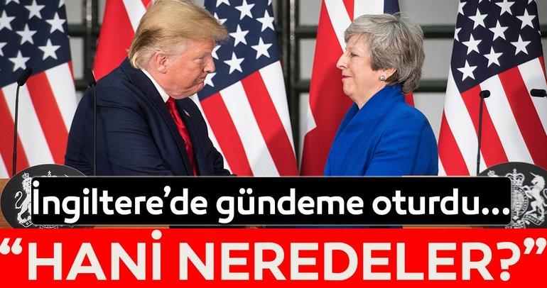 Donald Trump'tan İngiltere'de flaş açıklamalar