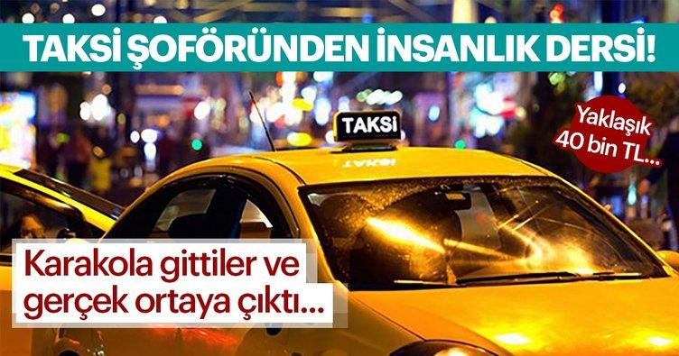 Taksi şoförü, aracında unutulan 40 bin lirayı sahibine verdi