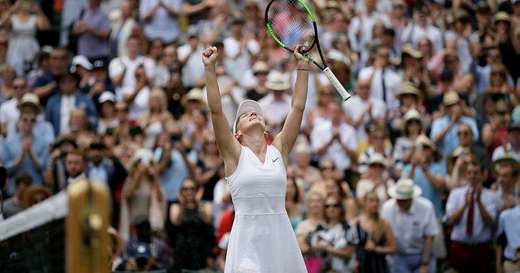 Wimbledon'da ilk finalist Halep