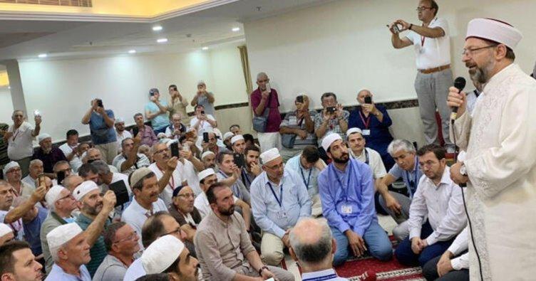 Mekke'de, Almanyalı hacı adaylarıyla buluştu