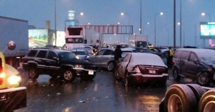 ABD'de iki otomobil çarpıştı: 9 ölü