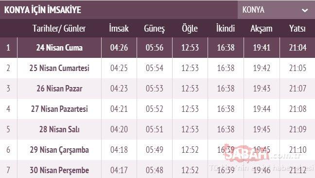 Konya iftar saati: Karaman ve Konya imsakiye ile iftar vakti! 2020 Konya, Karaman sahur ve iftar saati kaçta?