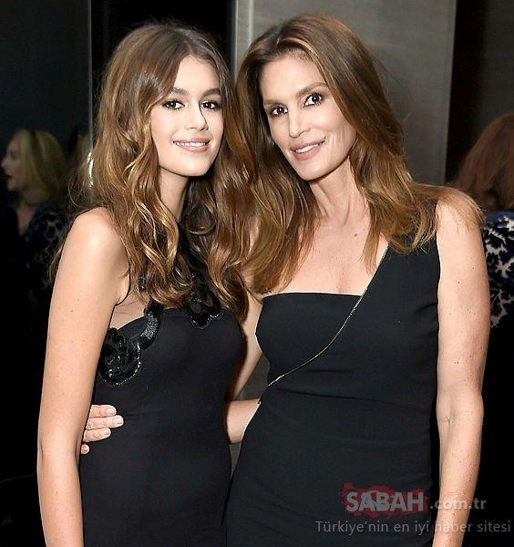 Cindy Crawford'un 18 yaşındaki model kızı Kaia Gerber aşık oldu!