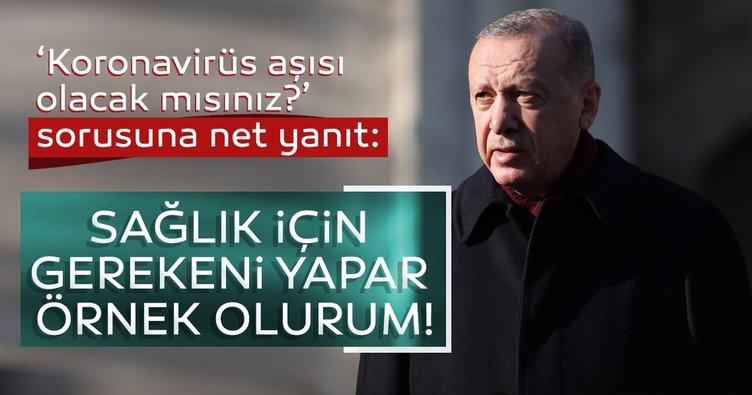 SON DAKİKA! Başkan Erdoğan'dan 'koronavirüs aşısı olacak mısınız?' sorusuna çok net yanıt!