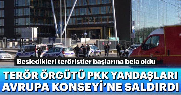 PKK yandaşlarından Avrupa Konseyi'ne saldırı
