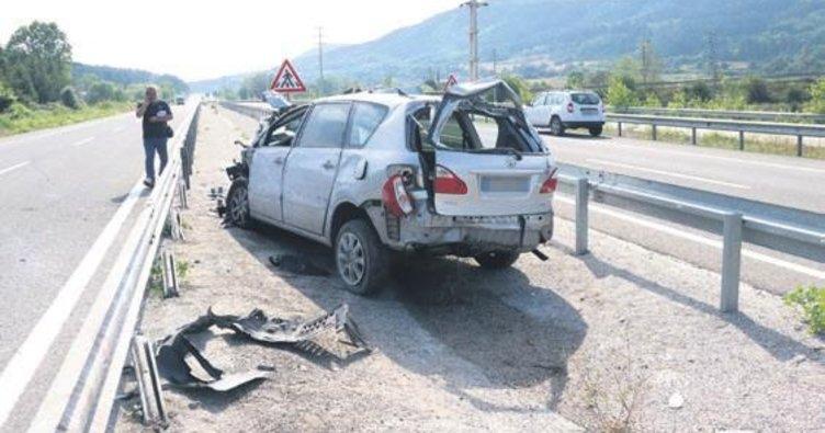 Bolu'da trafik kazası: 1 ölü, 5 yaralı