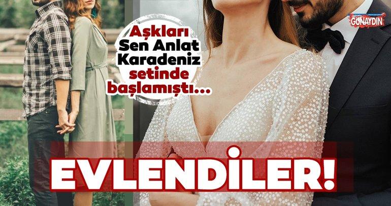 Aşkları Sen Anlat Karadeniz setinde başlamıştı... Senem Göktürk ve Emre Ön evlendiler!