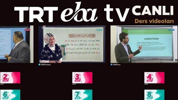 TRT EBA TV (13 Nisan Pazartesi) Lise, Ortaokul, İlkokul dersleri Uzaktan Eğitim canlı yayın izle | Video