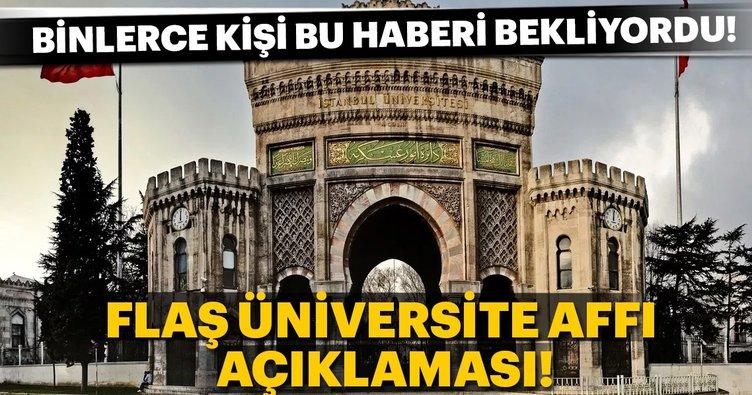 Son Dakika: Öğrenci affının şartları belli oldu! Kimler üniversiteye geri dönebilecek?