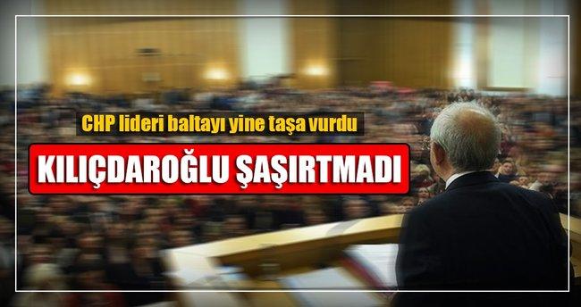 Kılıçdaroğlu baltayı taşa vurdu