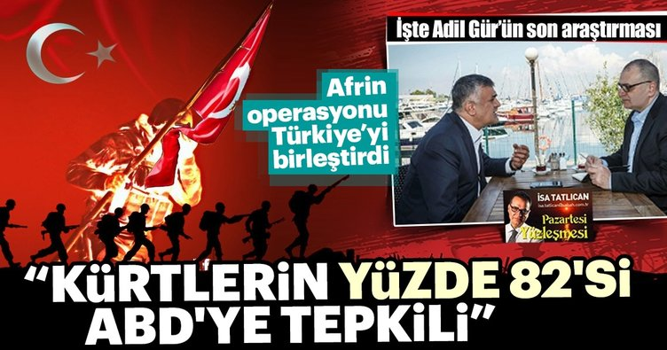 Adil Gür: Afrin Operasyonu'na destek yüzde 90