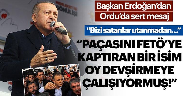 Başkan Erdoğan'dan Ordu'da kritik mesajlar