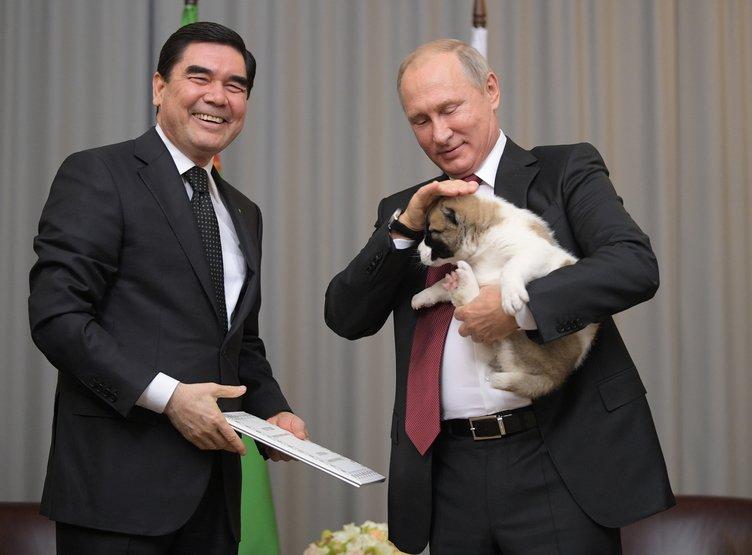 Putin'e çoban köpeği hediye edildi!