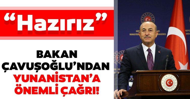 Son dakika: Bakan Çavuşoğlu'ndan Yunanistan'a kritik çağrı...
