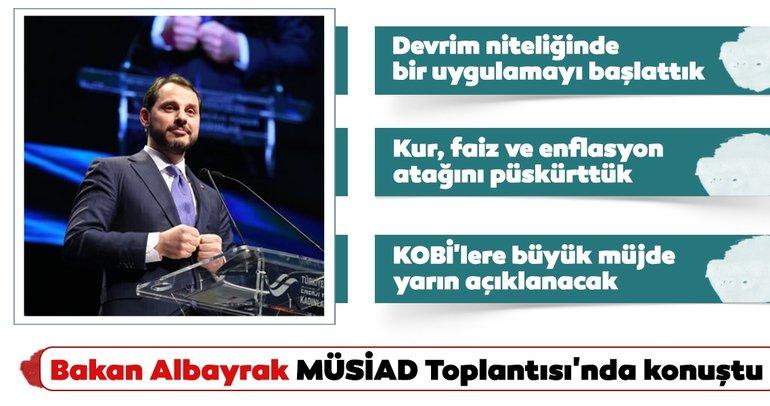 Son dakika: Bakan Albayrak'tan önemli açıklamalar! KOBİ'lere büyük müjde yarın açıklanacak