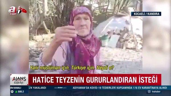 Kocaeli'de yaşayan 85 yaşındaki Hatice Fidan'ın gözleri yaşartan Türk Bayrağı isteği böyle yerine getirildi | Video